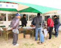 被災地支援パネル展と倉敷みらい公園の防災機能紹介